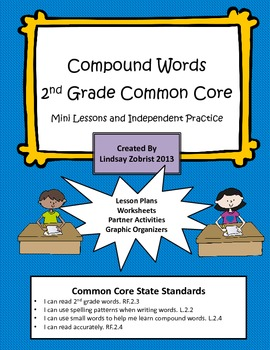 Compound Words: 2nd Grade Common Core Lessons and Worksheets