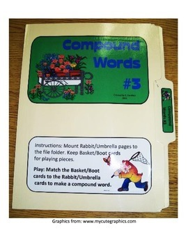 Compound Words #3: File Folder Activity
