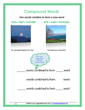 Compound Words - A Multisensory Lesson