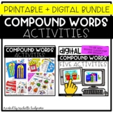 Compound Words Activities Printable and Digital Bundle, Ki