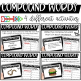Compound Words Activities - Printable or Digital for the G