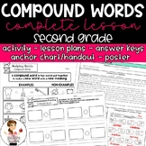 Compound Words Activity with Lesson Plans, Handout, Poster