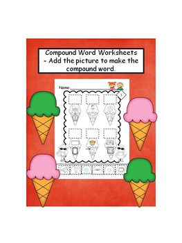Compound Words- Add Picture to Make a Compound Word