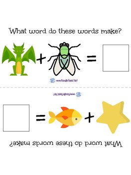 Compound Words- An ELA Concept Adapted Book for Autism Units or Early Elem