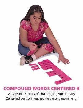 Compound Words Centered B Manipulatives