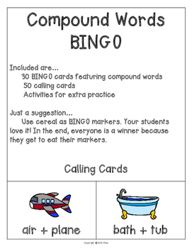 Compound Words BINGO