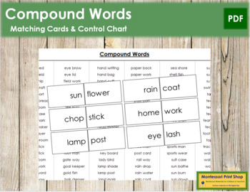 Compound Words (B/W)