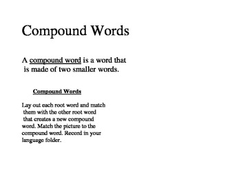 Compound Words Basic Introcuction