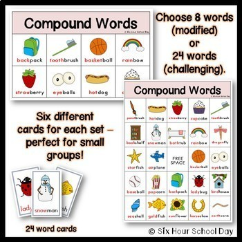 Compound Words BINGO Game - FREE