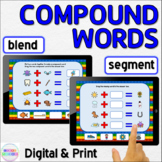 Compound Words Blend and Segment Syllables Phonological Awareness Activity