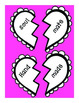 Compound Words Broken Hearts Match-Up