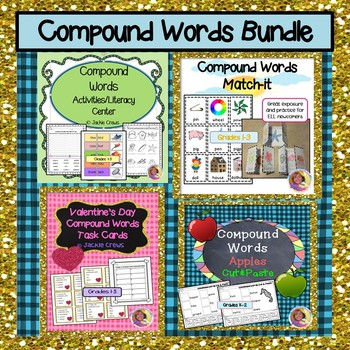 Compound Words 4-Product Bundle for Literacy Centers & Small Group Intervention