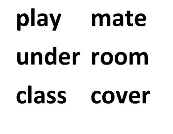 Compound Words Card Game and Follow-Up