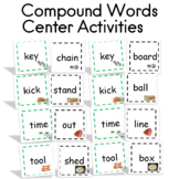 Compound Words Center Activities 120 cards with Recording Sheets