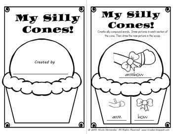 Compound Words Worksheets and Building Cards