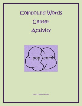 Compound Words Center Activity for Second Grade