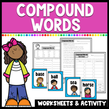 Compound Words Center & Worksheets