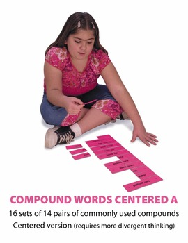 Compound Words Centered A Manipulatives