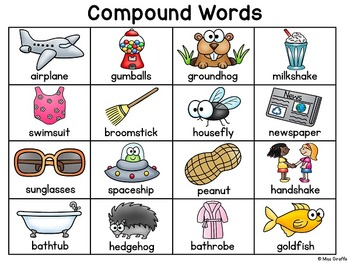 Compound Words Writing Center Reference Charts