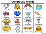 Compound Words Reference Charts for Writing Center Activities