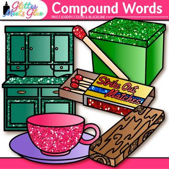 Closed Compound Word Clip Art {Swordfish, Matchbox, Pinwheel, Hotdog, Cupboard}