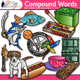 Closed Compound Word Clip Art | Swordfish, Matchbox, Pinwheel, Hotdog, Cupboard