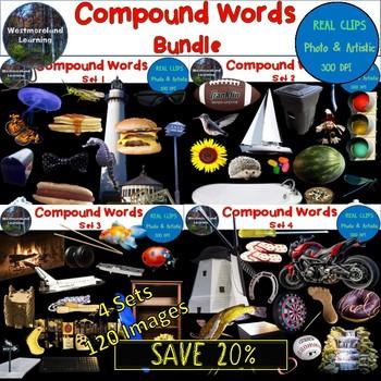 Compound Words Clip Art Bundle 120 Images Photo & Artistic Digital Stickers