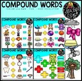 Compound Words Clip Art Bundle {Educlips Clipart}