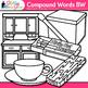 Closed Compound Word Clip Art {Swordfish, Matchbox, Pinwhe