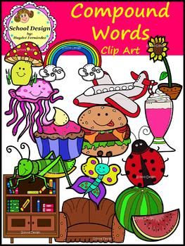 Compound Words Clip Art (School Design)