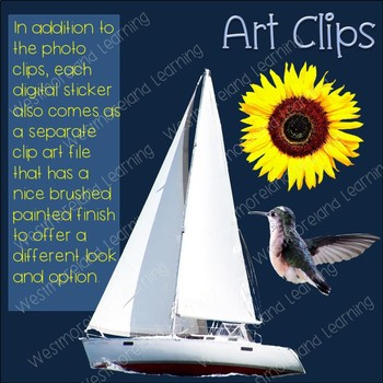 Compound Words Clip Art Set 2 Photo & Artistic Digital Stickers