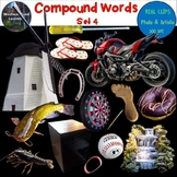 Compound Words Clip Art Set 4 Photo & Artistic Digital Stickers