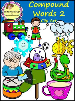Compound Words Clip Art Set II (School Design)