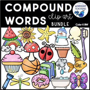 Compound Words Clip Art - Whimsy Workshop Teaching