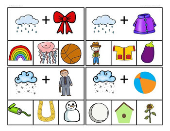 Compound Words Clip Cards Center