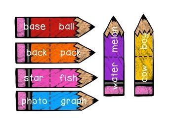 Compound Words Colored Pencils
