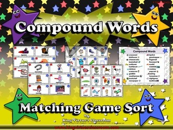 Compound Words: Compound Words Matching Game Sort #1 Pictu
