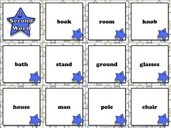 Compound Words: Compound Words Matching Game Sort #2 Words - King Virtue