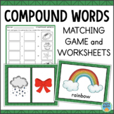 Compound Words Cut and Paste Worksheets and Game