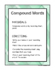 Compound Words, Contractions, Synonyms, Antonyms, and Homophone Matching Pack!