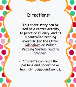 Orton Gillingham Compound Words Controlled Reading