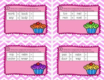 Compound Words Cupcake Task Cards {Take 1}