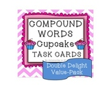 Compound Words Cupcake Task Cards Double Delight Value-Pack
