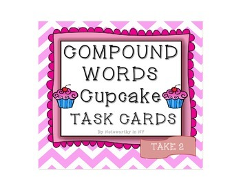 Compound Words Cupcake Task Cards {Take 2}