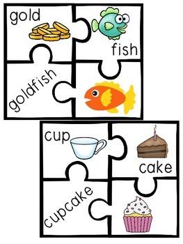 Compound Words Cut Apart Puzzles