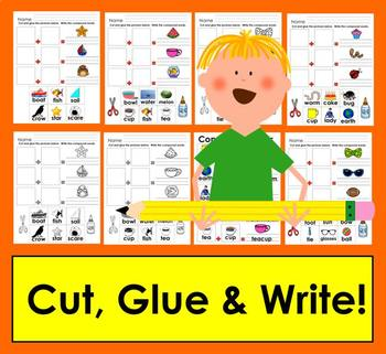 Compound Words: Cut and Glue and Write!  Posters, too!
