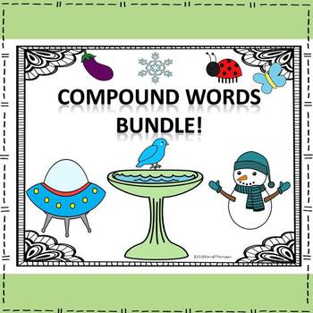 Compound Words Bundle: Read, Write, and Spell (Flash Cards