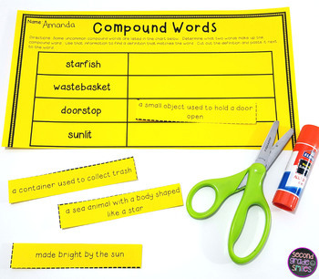 Compound Words (Cut and Paste Activities for L.2.4d)