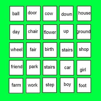 Compound Words - Cut and Paste Handouts