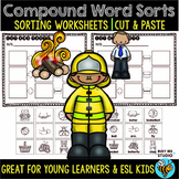 Compound Words Cut and Paste Worksheets